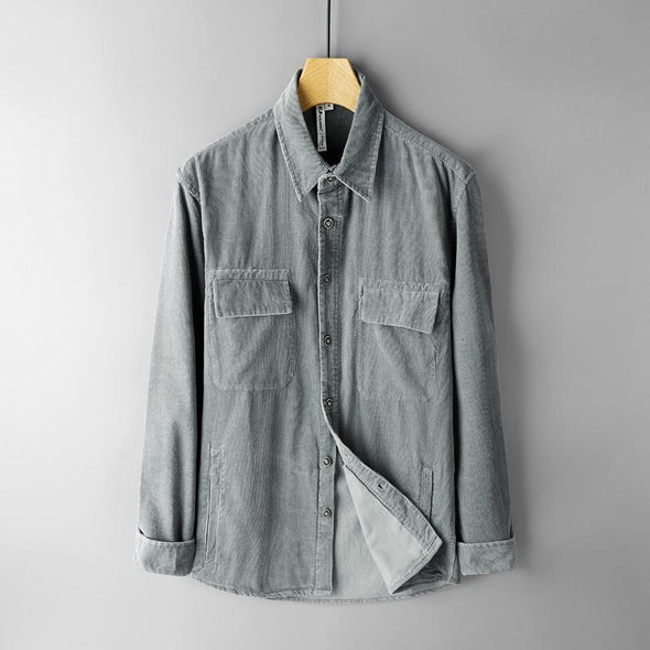 Rockland Corduroy Dual-Pocket Button Up