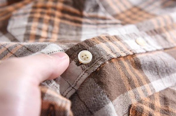 Osier Plaid Button Up