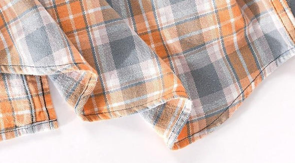 Osier Plaid Stonewashed Button Up
