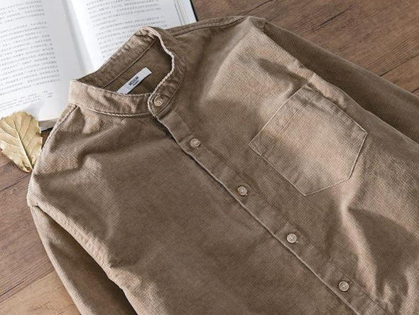 Corduroy Full-Button Henley