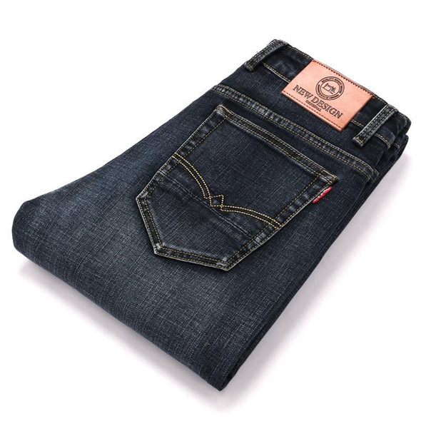 Slightly-Distressed Black Jeans - Straight