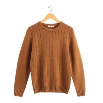 Rib-Knitted Pullover