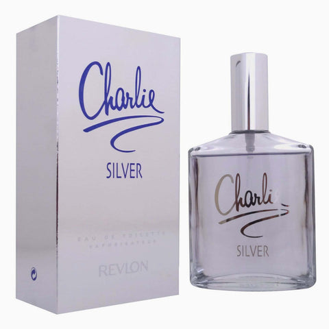 charlie silver by revlon 3.4oz / 100ml edt eau de toilette spray