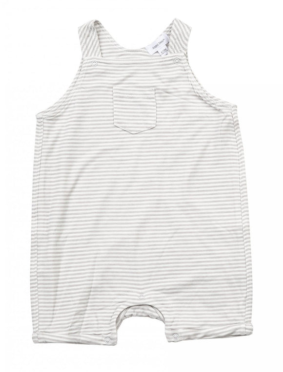 Angel Dear Overall Shortie - Gray Stripe