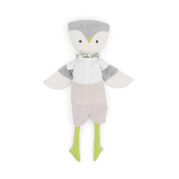 Hazel Village Animal - Jeremy Owl in Shorts + White Shirt