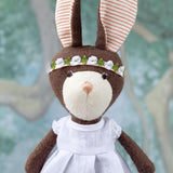 Hazel Village White Linen Doll Dress
