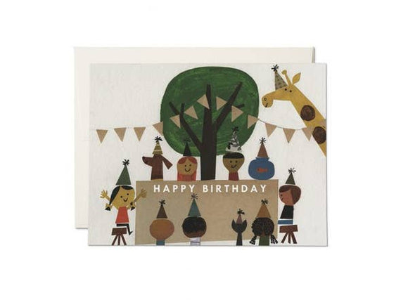 Red Cap Cards - Birthday Party Card