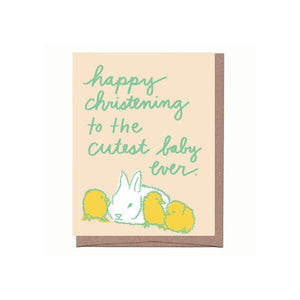 La Familia Green - Cute Christening Card