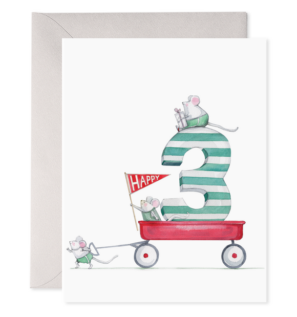E. Frances Card - 3rd Birthday