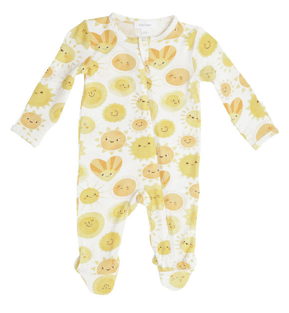 Angel Dear Zipper Footie - Sunshine