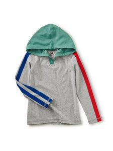 Tea Collection Sleeve Stripe Happy Hoodie