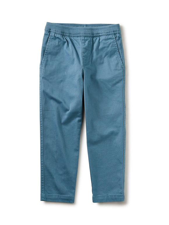 Tea Collection Timeless Stretch Twill Pant: Aegean Blue