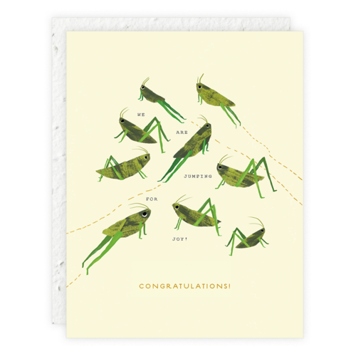 Seedlings - Jumping for Joy Card