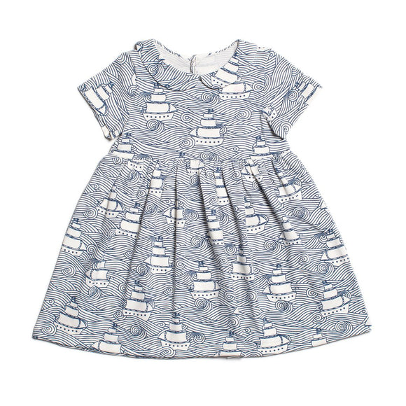Winter Water Factory Chelsea Dress - High Seas in Navy