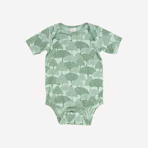 Kate Quinn Short Sleeve Lap Neck Bodysuit - Forest