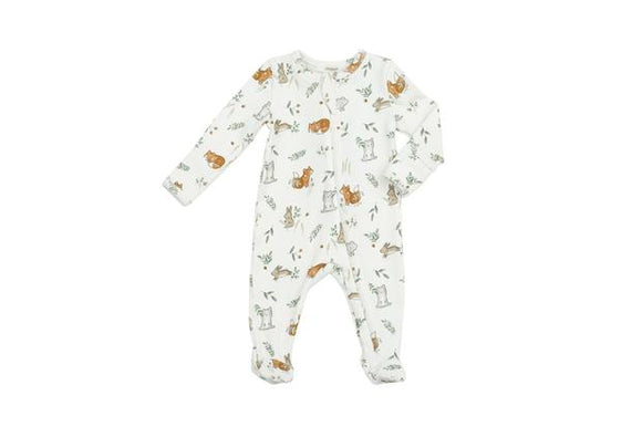 Angel Dear Zipper Footie - Delicate Woodland
