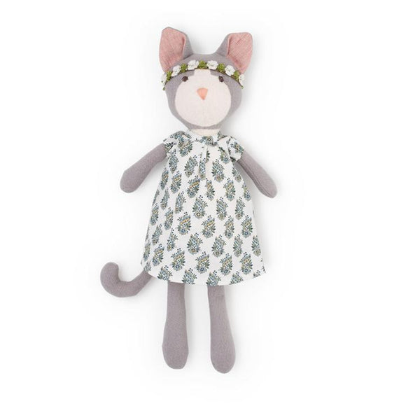 Hazel Village Animal - Gracie Cat in Tea Party Dress