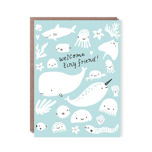 Hello! Lucky Card - Welcome Tiny Friend!