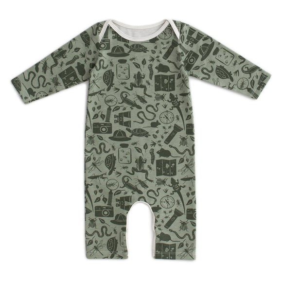 Winter Water Factory Long Sleeve Romper - Nature Explorer