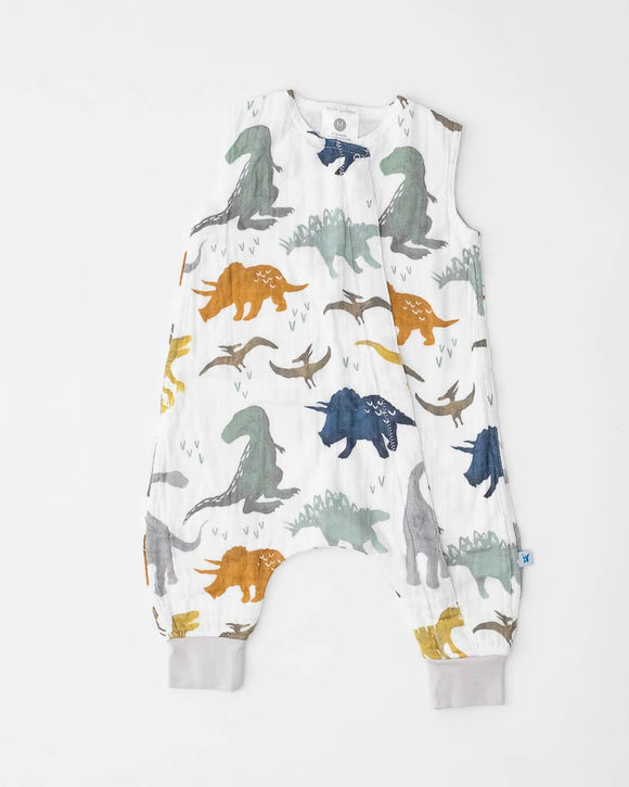 Little Unicorn Cotton Muslin Romper - Dino Friends