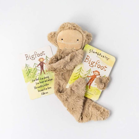 Slumberkins Sunkissed Bigfoot Snuggler with Board Book