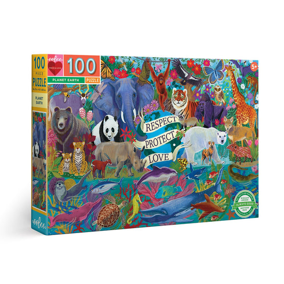 Eeboo 100 Piece Puzzle - Planet Earth