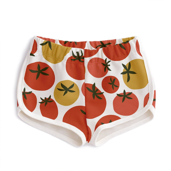Winter Water Factory French Terry Shorts - Tomatoes in Red & Yellow