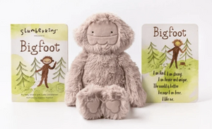 Slumberkins Bigfoot Kin with Board Book - Rose
