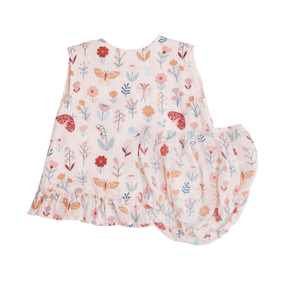 Angel Dear Ruffle Top & Bloomers - Butterfly Garden