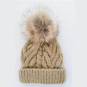 Huggalugs Pom Pom Beanie Hat - Pop Birch