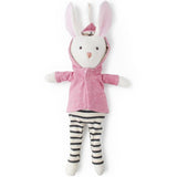 Hazel Village Animal - Penelope Rabbit in Clover Jacket + Striped Leggings