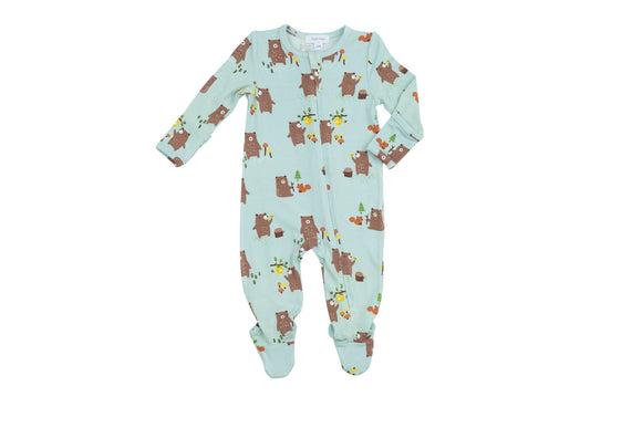 Angel Dear Zipper Footie - Baby Bears