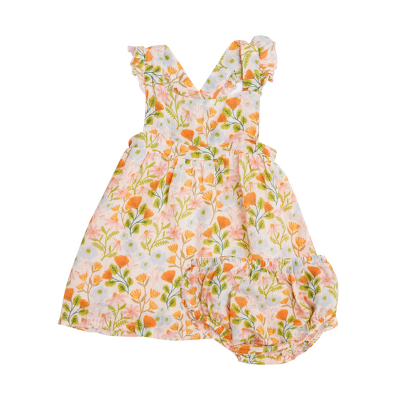 Angel Dear Pinafore Top & Bloomer - Honest Earth Floral