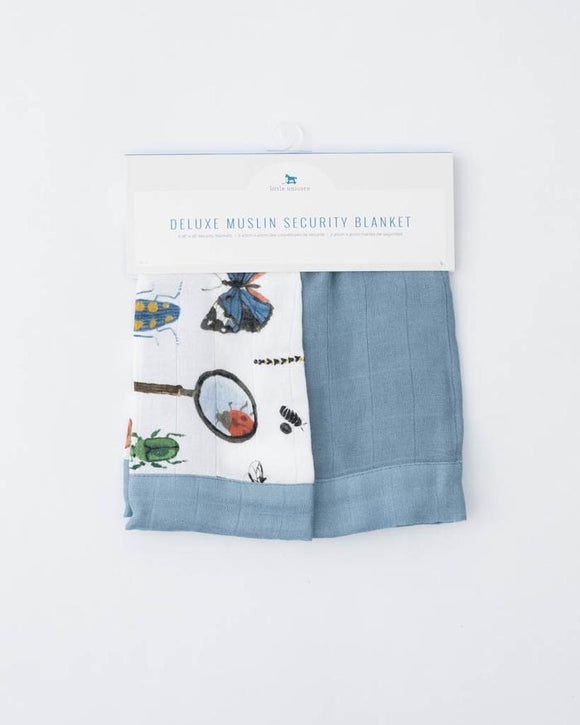 Deluxe Muslin Security Blanket - Bugs/Spruce - Set of 2