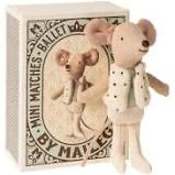 Maileg Little Brother Mouse Dancer in Matchbox