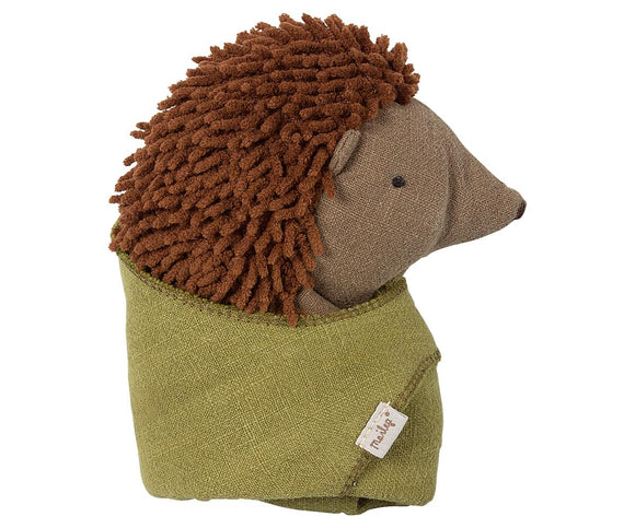 Maileg Little Hedgehog with Leaf