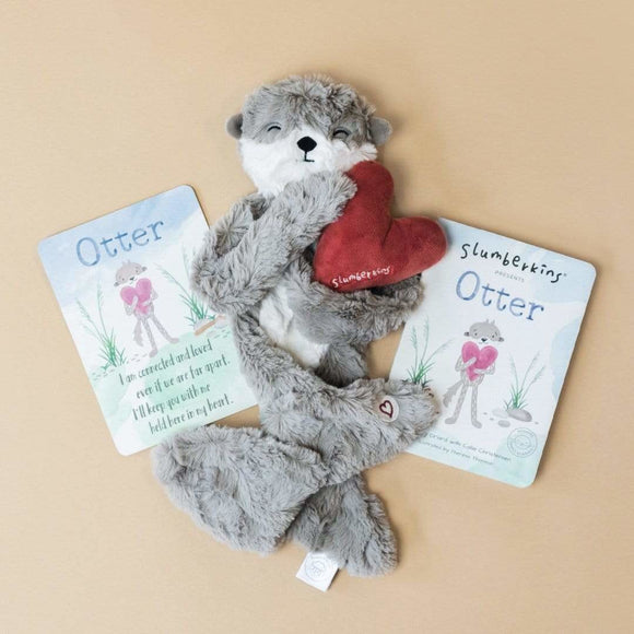 Slumberkins Otter Snuggler with Board Book - New!