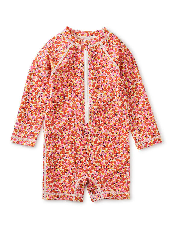 Tea Collection Rash Guard Baby Swimsuit - Wildflowers