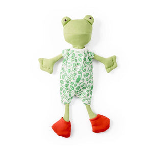 Hazel Village Animal - Ella Toad in Green Leaf Romper