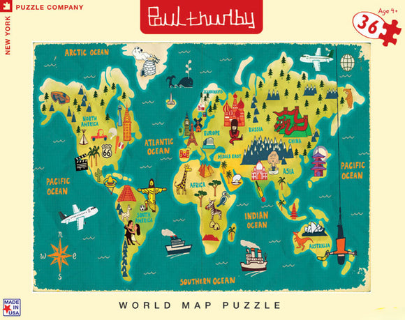 Paul Thurlby World Map Puzzle