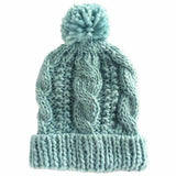 Huggalugs Beanie Hat - Seaglass Cable
