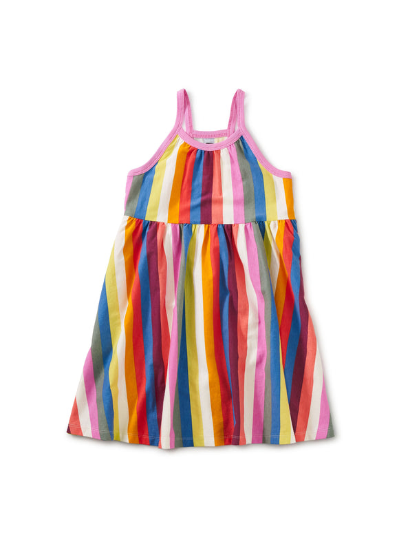 Tea Collection Spaghetti Strap Trapeze Dress - Vibrant Stripe