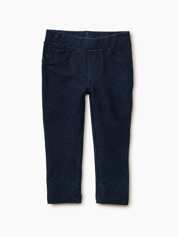 Tea Collection Stretch Denim-Like Baby Pant - Dark Wash