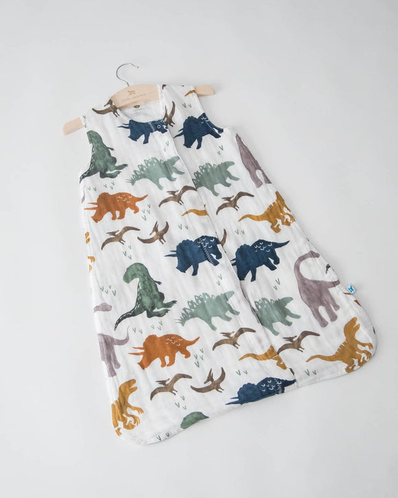 Little Unicorn Cotton Muslin Sleep Bag - Dino Friends