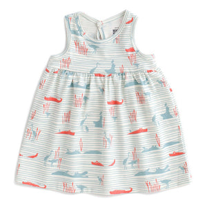 Winter Water Factory Oslo Baby Dress - Hippos & Crocodiles