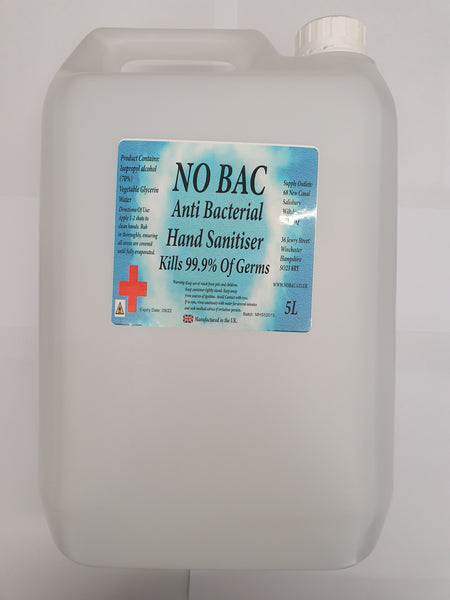 NO BAC HAND SANITSER 5L