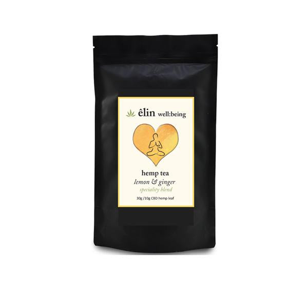 Êlin Well:being 10mg CBD Hemp Tea 30g - Lemon and Ginger tea