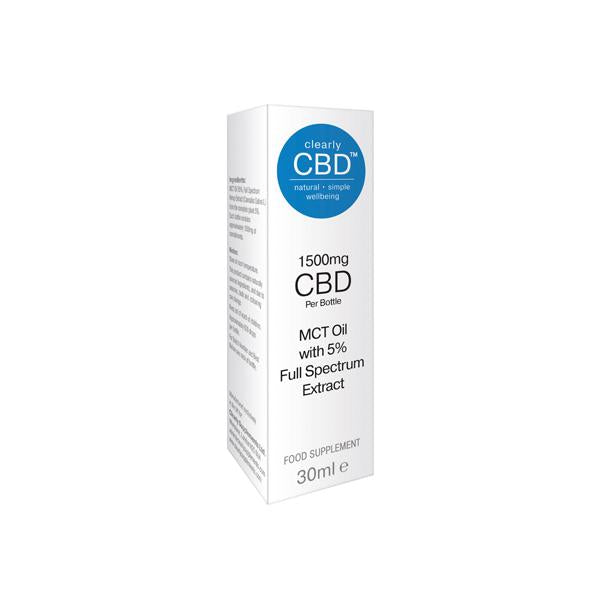 Clearly CBD 1500mg CBD Tincture Oil 30ml