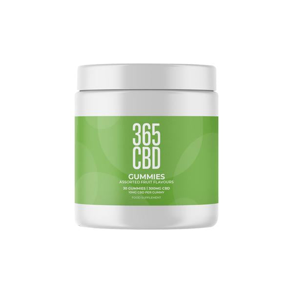 365CBD Assorted Fruit Flavoured Gummies 300mg CBD