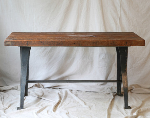 Industrial lathe base small dining table